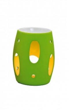 Kominek do wosków: pastelowe kropki (zielone)