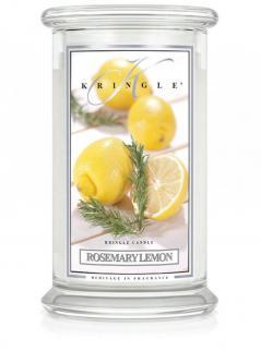 Kringle candle - rosemary lemon - duży, klasyczny słoik (623g) z 2 knotami