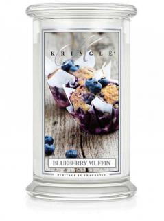 Kringle candle - blueberry muffin - duży, klasyczny słoik (623g) z 2 knotami