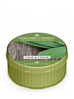 Country candle - sage and cedar - daylight (35g)