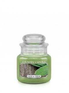 Country candle - sage and cedar - mały słoik (104g)
