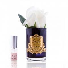 Cote noire - perfumowany kwiat róży - ivory white - dyfuzor (czarne szkło)