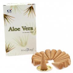Kadzidełko indyjskie stożkowe -  aloe vera