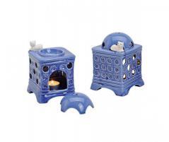 Kominek do wosków: piec kaflowy (niebieski)