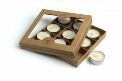 Flagolie - naturalne tealighty sojowe ( 9 sztuk)