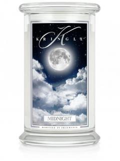 Kringle candle - midnight - duży, klasyczny słoik (623g) z 2 knotami