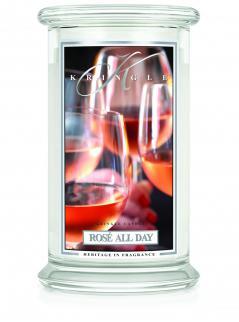 Kringle candle - rose all day - duży, klasyczny słoik (623g) z 2 knotami