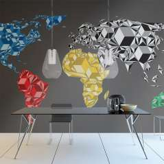 Fototapeta Map of the World - colorful solids