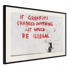 Plakat - Banksy: If Graffiti Changed Anything