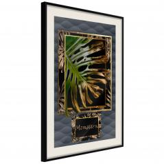 Plakat - Monstera w ramce