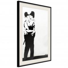 Plakat - Banksy: Kissing Coppers II