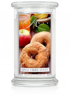 Kringle candle - apple cider donut - duży, klasyczny słoik (623g) z 2 knotami