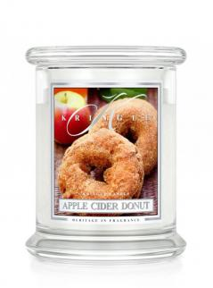 Kringle candle - apple cider donut - średni, klasyczny słoik (411g) z 2 knotami