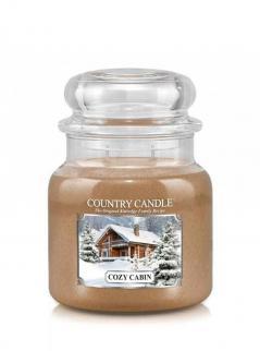 Country candle - cozy cabin -  średni słoik (453g) 2 knoty