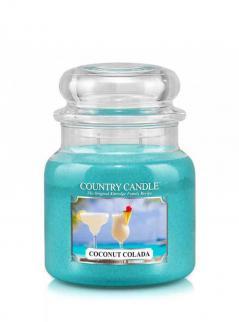 Country candle - coconut colada -  średni słoik (453g) 2 knoty