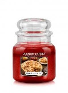 Country candle - warm apple pie - średni słoik (453g) 2 knoty