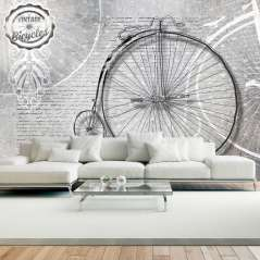 Fototapeta Vintage bicycles - black and white