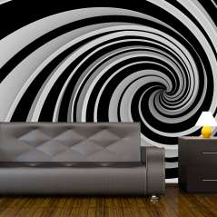 Fototapeta Black and white swirl